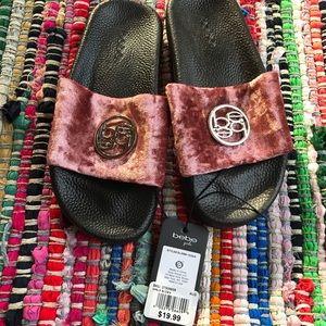 Bebe 2/3 girls slip on sandals sliders